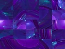 Carte élégante créative de fractale numérique abstraite, style de couverture fantastique, mosaïque illustration de vecteur
