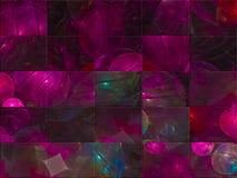 Carte élégante d'énergie de calibre créatif abstrait de fractale, style de couverture fantastique, mosaïque illustration de vecteur