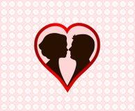 Carte élégante d'amour Photographie stock
