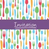 Carte élégante d'invitation avec le fond de couverts Photos libres de droits
