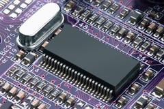 Carte électronique avec le processeur Images libres de droits