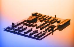 Carte électronique avec le processeur Image stock