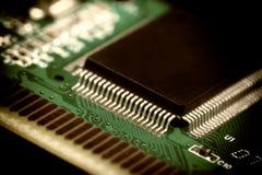 Carte électronique avec les composants électriques Image libre de droits