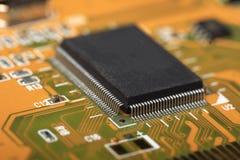 Carte électronique avec les composants électriques Photo libre de droits