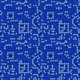 Carte électronique bleue avec le vec gris de soudure illustration de vecteur