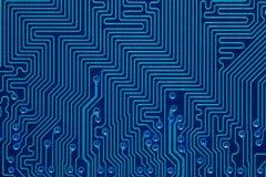 Carte électronique de bleu Image stock