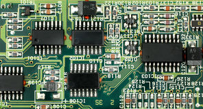 Carte électronique de carte PCB Photo libre de droits