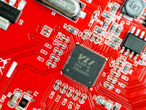 Carte électronique de rouge Photographie stock libre de droits