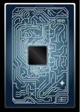 Carte électronique de vecteur Photographie stock