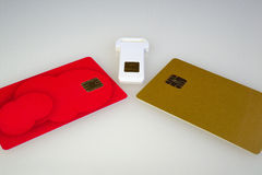 Carte électronique différente Photo stock