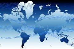 Carte 01 du monde Image libre de droits