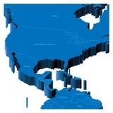 carte 3d des Etats-Unis illustration de vecteur