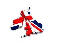 carte 3d du Royaume-Uni Photos libres de droits