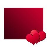 Carte 4 de jour de Valentines Photos libres de droits
