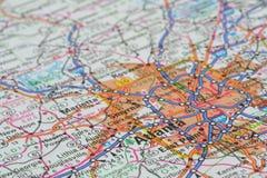 Carte Photographie stock libre de droits