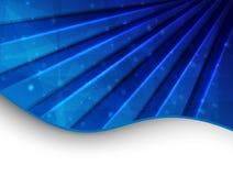 Carte abstraite bleue Photos stock
