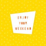 Carte abstraite Cardez le descripteur Appréciez votre carte de week-end illustration libre de droits