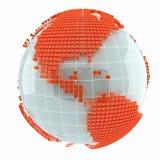 Carte abstraite créative du monde de cube Photos libres de droits