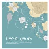 Carte abstraite d'invitation de fond/mariage Images stock