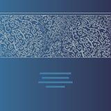Carte abstraite d'invitation de vecteur avec le remous abstrait Images libres de droits