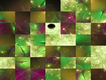 Carte abstraite de calibre de fractale, couverture de fantaisie de mystère fantastique, mosaïque illustration de vecteur
