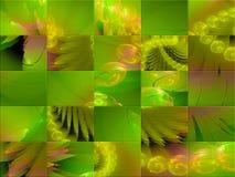 Carte abstraite de calibre de fractale, style de couverture de mystère fantastique, mosaïque illustration de vecteur