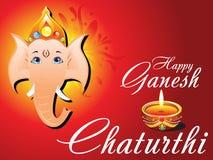 Carte abstraite de chaturthi de ganesh Image libre de droits