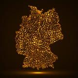 Carte abstraite de l'Allemagne Images libres de droits