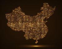 Carte abstraite de la Chine Photos libres de droits