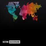 Carte abstraite de la terre de télécommunication de vecteur Photos libres de droits