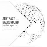Carte abstraite de la terre de télécommunication de vecteur Image stock