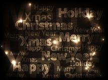 Carte abstraite de Noël Images libres de droits