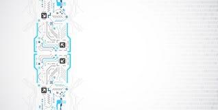 Carte abstraite de technologie téléphone noir de récepteur de concept de transmission illustration libre de droits