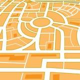 Carte abstraite de ville Photos stock