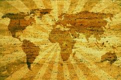 Carte abstraite du monde illustration de vecteur