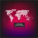 carte abstraite du monde de vecteur Images libres de droits