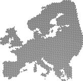 Carte abstraite grise de l'Europe Images libres de droits