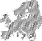Carte abstraite grise de l'Europe Photos libres de droits