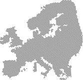 Carte abstraite grise de l'Europe Photos libres de droits