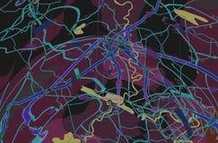 Carte abstraite pourprée Image libre de droits