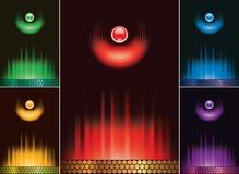 Carte abstraite réglée de vecteur Image stock
