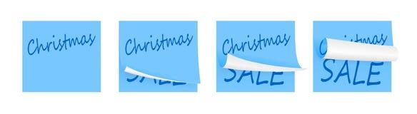 Carte adesive blu-chiaro Fotografia Stock