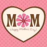 Carte/affiche du jour de mère Image libre de droits