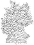 Carte allemande Photo stock