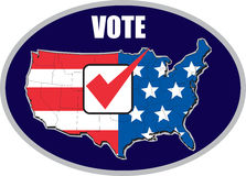 Carte américaine d'élection de voix des Etats-Unis Images stock