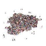 Carte Andorre de forme de groupe de personnes Image libre de droits