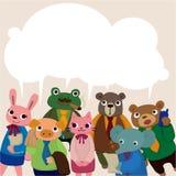 Carte animale d'employé de bureau Photos libres de droits