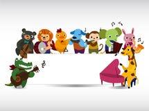 Carte animale de musique de pièce Photo libre de droits