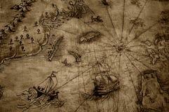 Carte antique illustration stock
