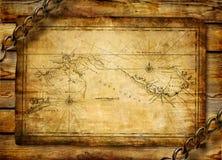 Carte antique Photo libre de droits